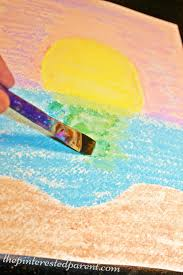 chalk watercolor paintings for kids easy arts craft projects for children