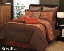 orangeand brown bedspread orange and