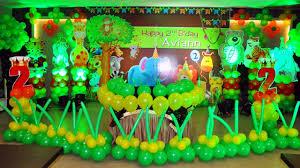 Jungle Decoration Best Jungle Theme Balloon Decorations Hotel Aroma Chandigarh
