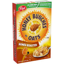 post honey bunches of oats breakfast cereal honey roasted 18 oz walmart