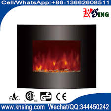 wall mount electric fireplace heater curved front pebbles led flame ef453s ef453sl ef453slb stone base stand