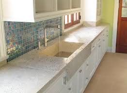 Kitchen Counter Tile Beautiful Kitchen With Concrete Counters And Sink And Abalone