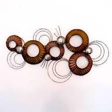 contemporary metal wall art abstract circles on jorvik glass
