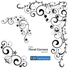 Corner Designs Vector Free Download 3950 Decorative Floral Vectors Download Free Vector Art