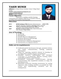 How To Create Resume Format For Fresher Simple Template Make First A