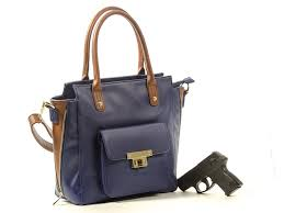 roma leathers concealed carry purse cross satchel concealment navy brown