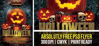 halloween party flyer template free free psd halloween party flyer template designssave com