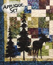 Moose & Trees Laser Cut Applique Set | Quilt Patterns/Kits ... & Moose & Trees Laser Cut Applique Set Adamdwight.com