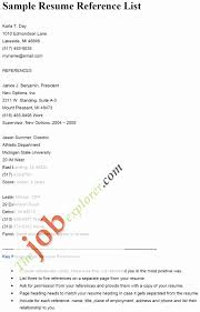 Resume Reference List Template Elegant Format For References A
