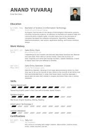 Data Entry Clerk Resume Samples Visualcv Resume Samples Database