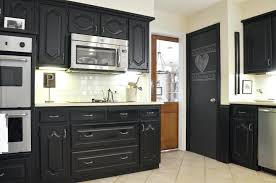 chalk painting kitchen cabinets black paint cabinet