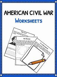 Civil War Facts, Information & Worksheets For Kids