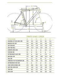 Cannondale Synapse Frame Size Chart Lajulak Org