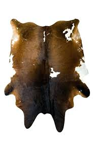 extra large brown and white natural hair on cowhide rug cow skin rugs for deer