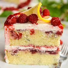 Lemon Raspberry Cake With Raspberry Filling Sugar Geek Show