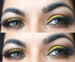 bright eyes makeup with fake eyelashes