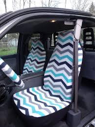 1 set of chevron print car seat covers and steering wheel cover custom made custom car