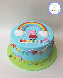 Pin By Sweet Snazzy On Cakes Pig Birthday Cakes Peppa Pig