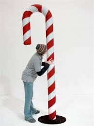 Large Candy Cane Decorations How to make large candy cane window ornaments Prop code CCF100 4