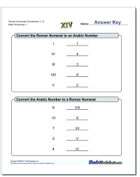 Read And Respond Worksheets Grade 4 Roman Numerals