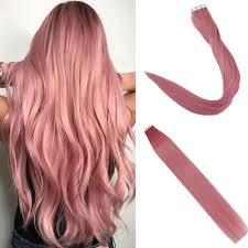 Light Pink Extensions Easyouth Pu Tape In Human Hair Extensions 20inch 25g 10pcs Per Package Light Pink Tape In Human