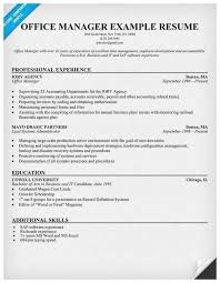 Sample Resume For Medical Office Manager Office Manager Job Description For Resume Fabulous 14