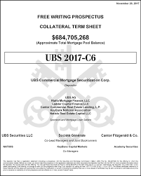 Ubs Commercial Mortgage Trust 2017 C6 Free Writing