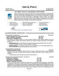 Sample Software Quality Assurance Supervisor Software Qa Resume