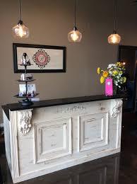 cheap salon reception desk
