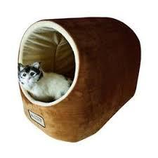 pet bed furniture. Armarkat Brown/Ivory Soft Velvet Cat Bed Pet Furniture