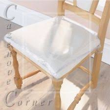 dining chair seat covers. 4pk Strong Dining Chair Protectors Clear Plastic Cushion Seat Covers Protection