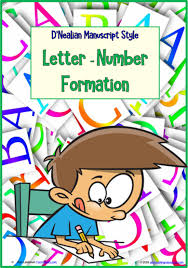 Manuscript Letter Formation Chart Kindergarten Handwriting Letter Number Formation Charts D Nealian Manuscript