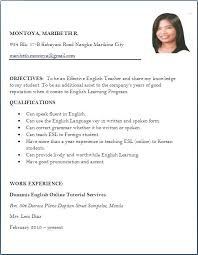 Resume Format For Teachers In Word Format Extraordinary English Resume Format Teacher Resume Sample English Resume Format