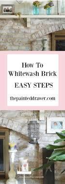 How To Whitewash Brick Best 25 Whitewash Brick Backsplash Ideas On Pinterest