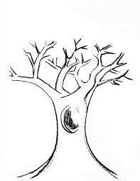 Small Picture with branches coloring page