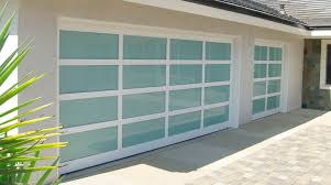 image of frosted glass garage door denver