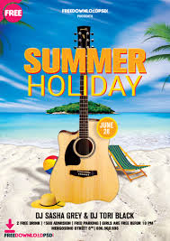 Summer Holiday Flyer Template Psd Psdflyer Co