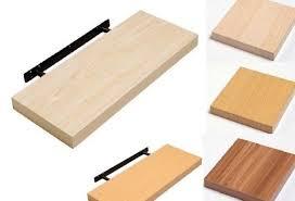 Beech Effect Floating Shelves Hudson Beech Wood Effect Floating Shelf Kit 41cm Fittings Included 3