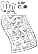 Letter Q coloring pages | Free Coloring Pages & Letter Q is for Quilt Adamdwight.com