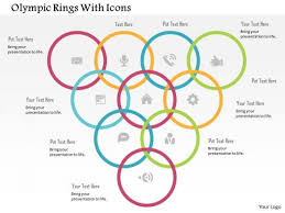 Business Diagram Olympic Rings With Icons Presentation