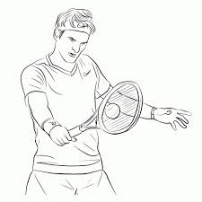 Tennis Sport Coloring Page For Kids Printable Free Tennis Racket