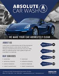 Free Simple Car Wash Flyer Template In Adobe Photoshop, Illustrator ...