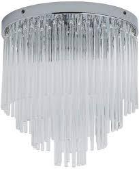 at argos argos home rhodes 3 light glass rods ceiling light