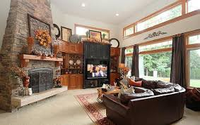Cozy Thanksgiving Decorating Ideas Living Room Makeover In Fall Simple Living Room Decorated