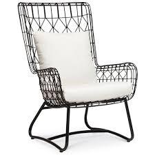 ideas patio furniture swing chair patio. palecek capri black outdoor wing chair found on polyvore featuring home outdoors patio furniture ideas swing