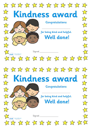 Twinkl Resources Kindness Award Certificate Classroom