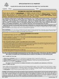 Resume Application Form New Us Passport Lost Application Form Image Collections Free Form