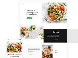 Restaurant Website Design Restra A Restaurant Website By Radhikakpr On Dribbble