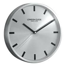 wall clock wall clock london modern company sleek silver large wall clock london