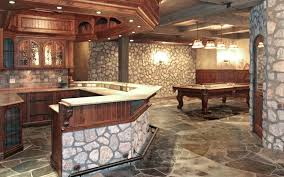 A Wet Bar Rustic Basement Ideas Country Estate